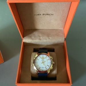 Tory Burch Hybrid Collins Smartwatch-navy red gold